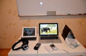 Фрагмент рабочего стола- ipad, macbook pro